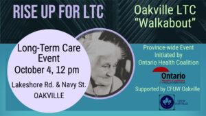 Long-Term Care Event & Oakville Walk